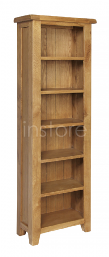 Loxley Oak Narrow Tall Bookcase